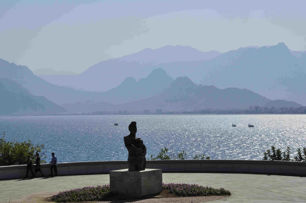 vue sur la baie d'Antalya