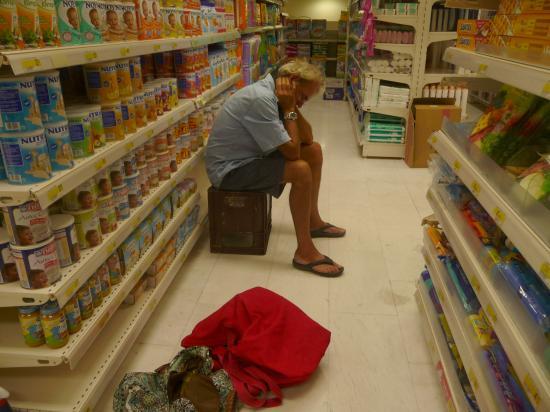 sieste climatisée à Carrefour...